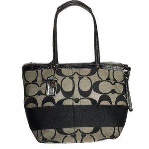 COACH Signature black shoulder tote bag